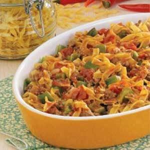 Spanish Noodles Ground Beef Recipe Taste Of Home