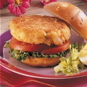 Shrimp Patty Sandwiches Recipe