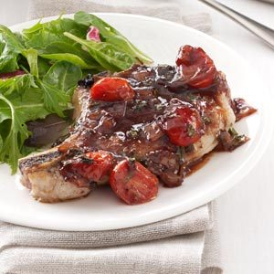 Pork with Strawberry-Port Sauce Recipe