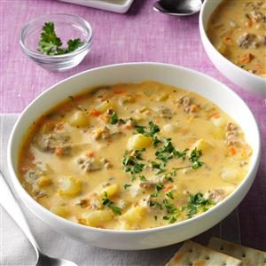 Big Batch Cheeseburger Soup Recipe