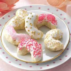 Iced Coconut Crescents Recipe