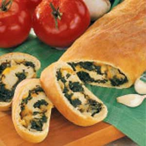 Spinach-Stuffed Bread