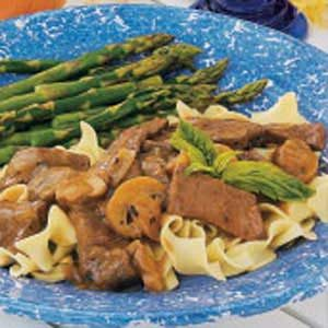 Simmered Sirloin with Noodles