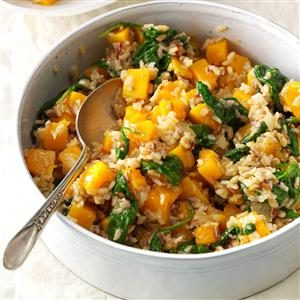 Butternut Squash with Whole Grains Recipe