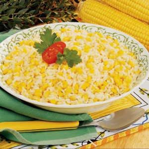 Roasted Corn and Garlic Rice for Two Recipe