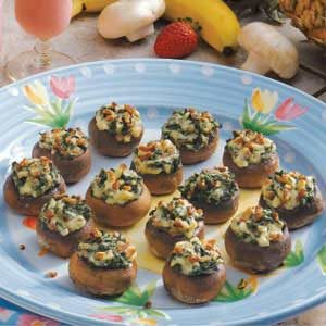 Spinach Cheese Mushrooms Recipe