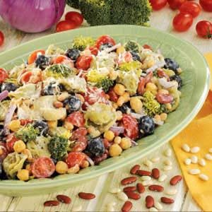 Tortellini Bean Salad Recipe