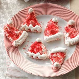 Meringue Santa Hats Recipe