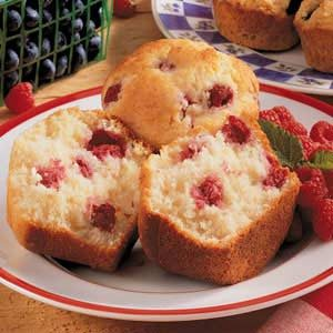 Lemon Raspberry Jumbo Muffins Recipe