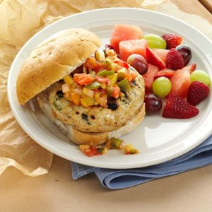 Turkey Burgers with Mango Salsa Recipe