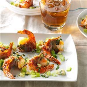 Bacon-Wrapped Blue Cheese Shrimp  Recipe