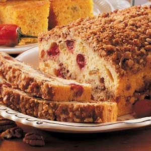 Cranberry Streusel Loaf Recipe