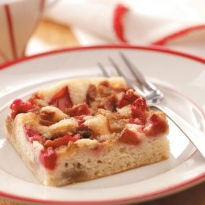 Royal Rhubarb Coffee Cake Recipe