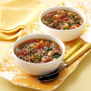 Italian Sausage Kale Soup Recipe photo by Taste of Home