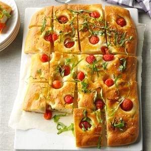 Cherry Tomato & Basil Focaccia Recipe