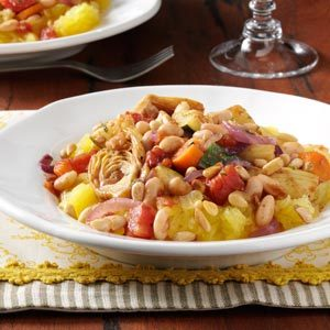 Spaghetti Squash with Balsamic Vegetables and Toasted Pine Nuts Recipe