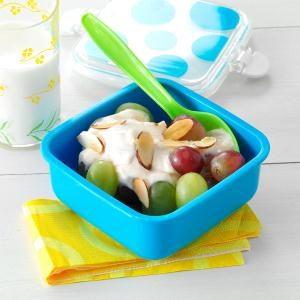 Grapes with Lemon-Honey Yogurt Recipe