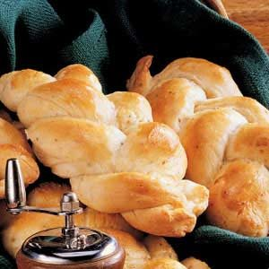 Braided Peppery Cheese Rolls Recipe
