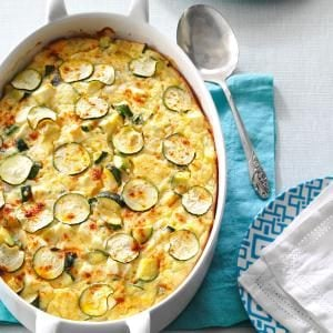 Greek Zucchini & Feta Bake Recipe