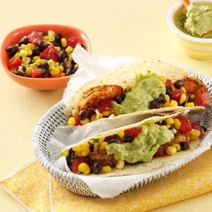 California Shrimp Tacos with Corn Salsa Recipe