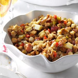 Smoked Sausage & Potato Dressing Recipe