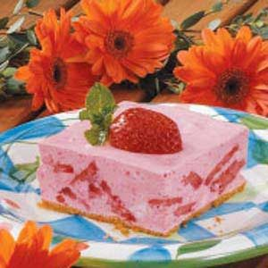 Strawberry Gelatin Dessert Recipe