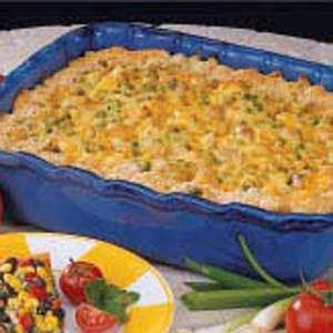 Cheesy Pasta Pea Bake Recipe
