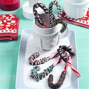 Chocolate-Dipped Candy Canes Recipe