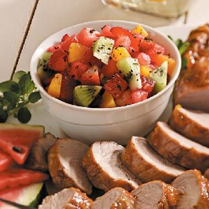 Pork with Watermelon Salsa Recipe