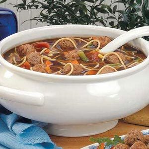 Easy Meatball Minestrone Recipe