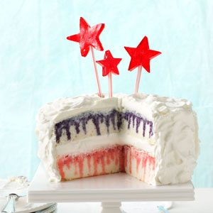 How to Make Red, White & Blueberry Poke Cake