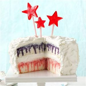 Red, White & Blueberry Poke Cake Recipe