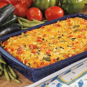 Colorful Vegetable Bake Recipe