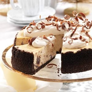 Marbled Cappuccino Fudge Cheesecake