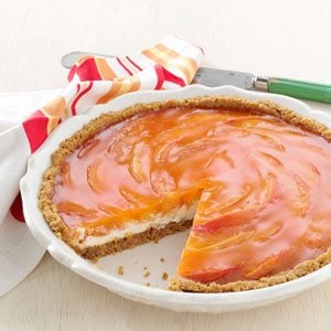 Sunny Peaches & Cream Pie Recipe