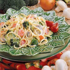 Creamy Garden Spaghetti Recipe