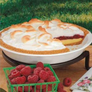Contest-Winning Raspberry Meringue Pie