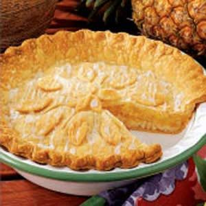 Contest-Winning Glazed Pineapple Pie