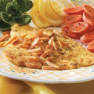 Dilled Sole with Almonds Recipe