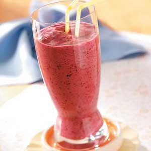 Four-Berry Smoothies Recipe