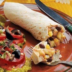 Corn N Bean Burritos