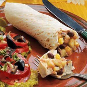 Corn N Bean Burritos Recipe