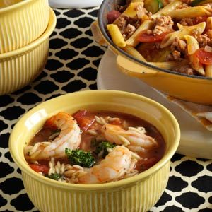 Orzo Shrimp Stew Recipe