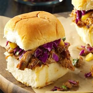 Caribbean Chipotle Pork Sliders Recipe