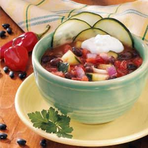 Chilled Bean Soup Recipe