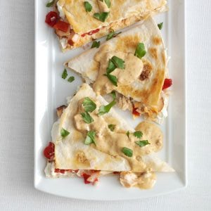 Smoked Salmon Quesadillas with Creamy Chipotle Sauce