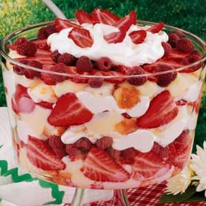 Strawberry Raspberry Trifle Recipe