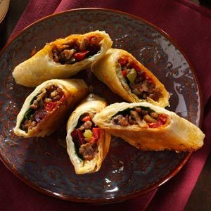 Sausage Phyllo Rolls Recipe Taste Of Home