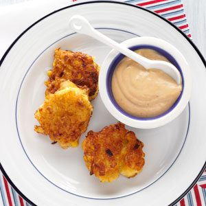 Shrimp Corn Cakes with Soy Mayo Recipe