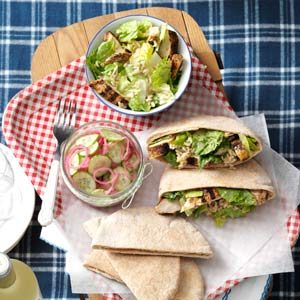 Chicken Caesar Pitas Recipe